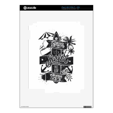 Beach Themed Summer surf enjoy decals for iPad 2
