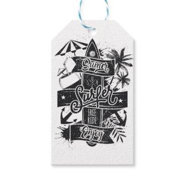 Beach Themed Summer surf enjoy gift tags