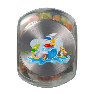 Summer Surf Fun Glass Candy Jars