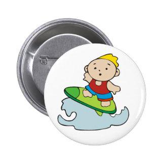 Summer Surfer Boy Pinback Buttons