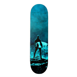Summer Surfing Grunge Style Skateboard