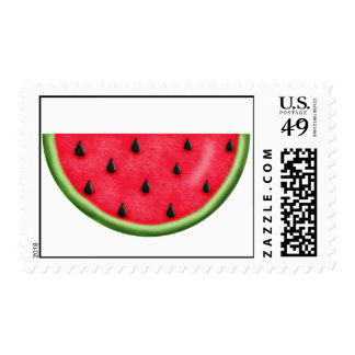 Summer Sweet Watermelon Postage Stamps