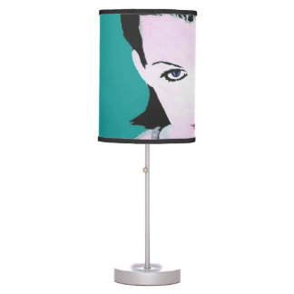 'Summer Swim' on a table lamp