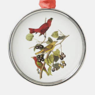 Summer Tanager by Audubon Christmas Ornament