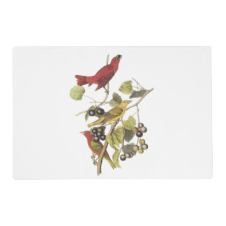 Summer Tanager by Audubon Placemat