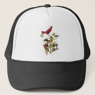 Summer Tanager by John Audubon Trucker Hat