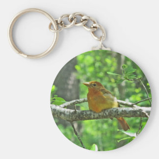 Summer Tanager (female) Keychain