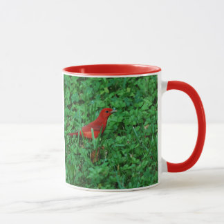 Summer Tanager in the Grass Mug