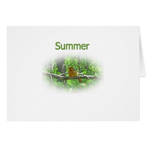 Summer Tanager Logo Greeting Card