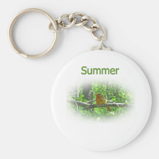 Summer Tanager Logo Keychain