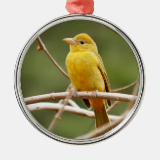 Summer Tanager Metal Ornament