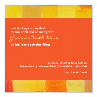 Summer tango Bachelor Party Invitation