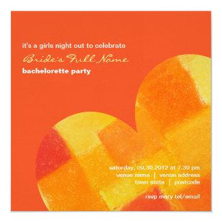 """Summer tango Bachelorette Party Invitation 5.25"""" Square Invitation Card"""
