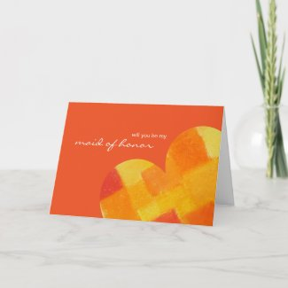 Summer tango Be My Maid of Honor Card zazzle_card
