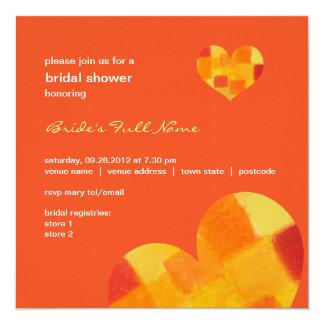 """Summer tango Bridal Shower Invitation 5.25"""" Square Invitation Card"""