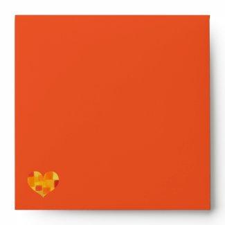 Summer tango Square Invitation Envelope zazzle_envelope