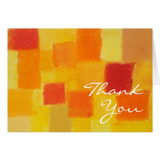 Summer tango Thank You Note Card