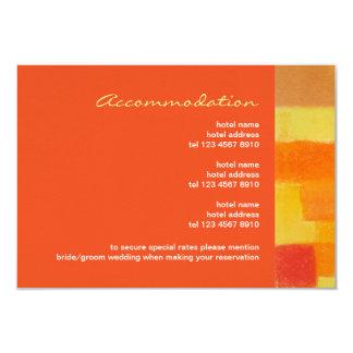"Summer tango Wedding Enclosure Card 3.5"" X 5"" Invitation Card"