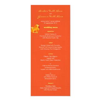 Summer tango Wedding Menu Card