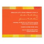 Summer tango Wedding Rehearsal Dinner Invitation