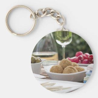 Summer Tapas Basic Round Button Keychain