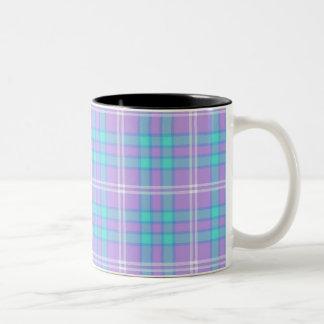 Summer Tartan Plaid Two-Tone Coffee Mug