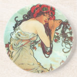 Summer, The Seasons, Mucha Coasters