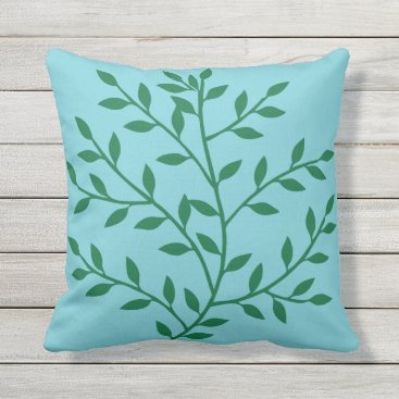 Beach Themed Summer Theme Garden Flower Leaves Custom Color Outdoor Pillow