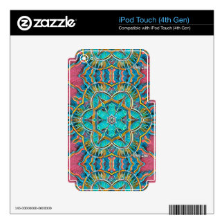 Summer Theme Kaleidoscope Decals For iPod Touch 4G