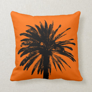 Summer theme pillow cushions with palm trees