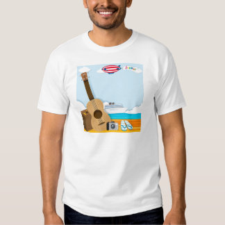 Summer theme with cruise and travel objects t shirt