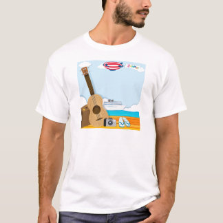 Summer theme with cruise and travel objects T-Shirt