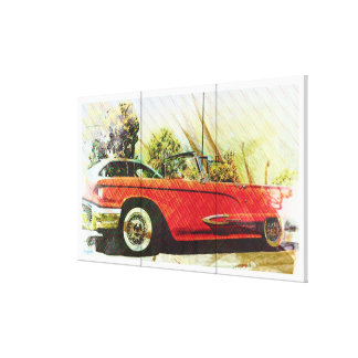 summer thunder Wheels oldschool car Canvas Print