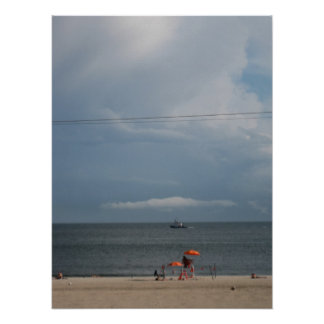 Summer Thunderstorm approaching, Brighton Beach Posters