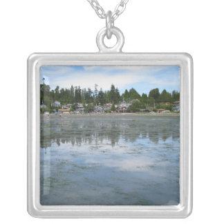Summer Tide Square Pendant Necklace