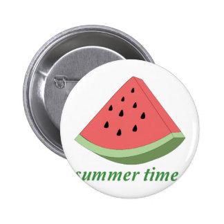 Summer Time 2 Inch Round Button