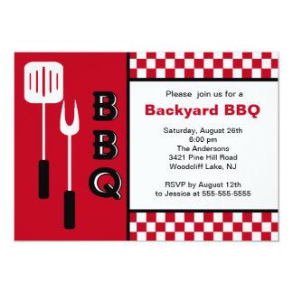 Summer Time Backyard BBQ Invitation