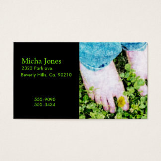Summer Time Barefoot Fun Business Card