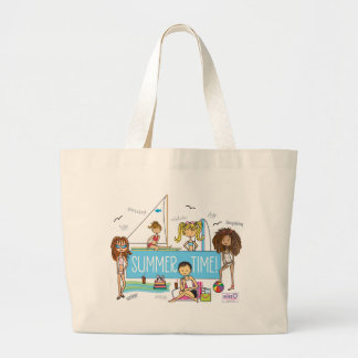 Summer Time Beach Bag Large Tote bag