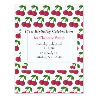 Summer Time Cherries Birthday Card