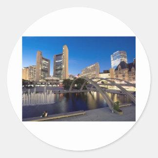 Summer Time City Hall Toronto Classic Round Sticker