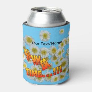 Summer Time Cust. Text Flowers Can Cooler
