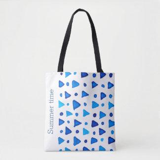 Summer time custom msg tote bag
