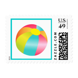 Summer Time Fun Beach Ball Postage Stamp