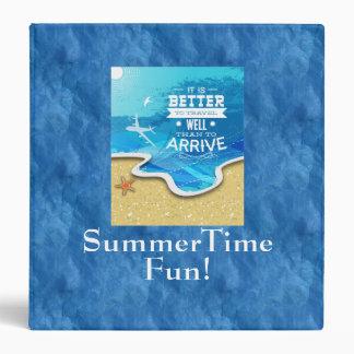 Summer Time Fun Scrapbook Album 3 Ring Binder