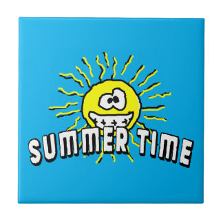 Summer Time - Happy Sun Ceramic Tile