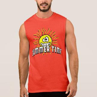 Summer Time - Happy Sun Sleeveless Shirt
