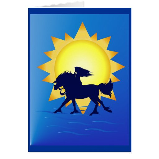 Summer Time Horse Card