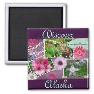 Summer Time In Alaska Fridge Magnets