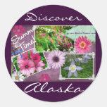 Summer Time In Alaska Round Sticker